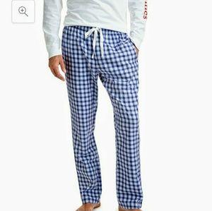 Vineyard Vines Mens Blue White Plaid Lounge Pants